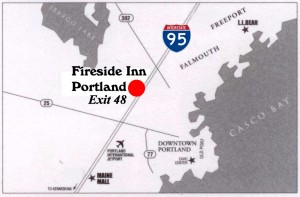 Map of the Fireside Inn & Suites - Portland, Maine